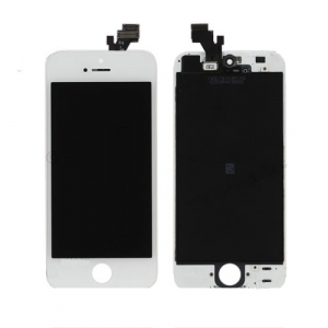 Display Lcd Hd completo di Touch screen e vetro Iphone 5 Bianco Tripla A