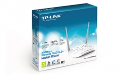 ROUTER TP LINK WIRELESS 300Mb ADSL2 + SWITCH 4P TD-W8961ND